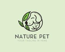 Circle Nature Pet Logo Design ...