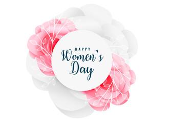 Obraz na Szklelovely happy women's day flower background