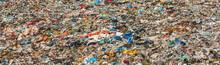 Various Garbage On Landfill Site Baner (no Logos / Trademarks Visible On Dump Stuff)