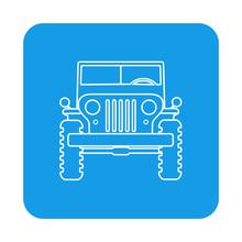 Icono Plano Lineal Jeep Vista ...