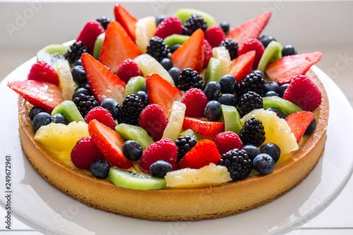 Fotomural fruit tart - crostata di frutta