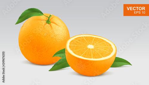 Canvastavla Realistic yellow orange vector illustration, icon