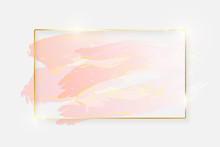 Gold Shiny Glowing Rectangle F...