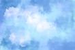 canvas print picture blauer Wasserfarben Hintergrund