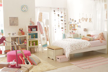 Cute Teen Girl Girl Bedroom With Decoration 2