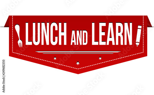 Lunch and learn banner design Wallpaper Mural
