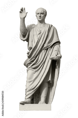 Statue of Cicero, a Roman statesman, lawyer, orator and philosopher Wallpaper Mural