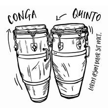 Congas, Musikinstrumente, Vektorendatei
