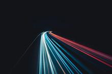Daten-autobahn In Der Nacht