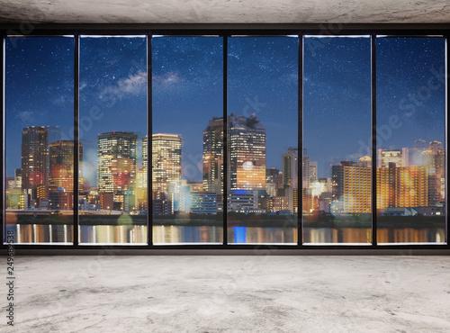puste-nowoczesne-wnetrze-z-widokiem-na-miasto-noca-i-gwiazdziste-niebo-puste-wnetrze-biura-biznesowego