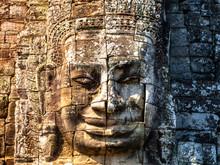 Smiling Stones At Bayon Temple Cambodia