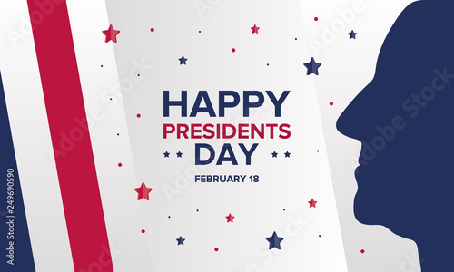 Fototapety, obrazy: Happy Presidents day in United States. Washington's Birthday. Federal holiday in America. Celebrated in February. Poster, banner and background