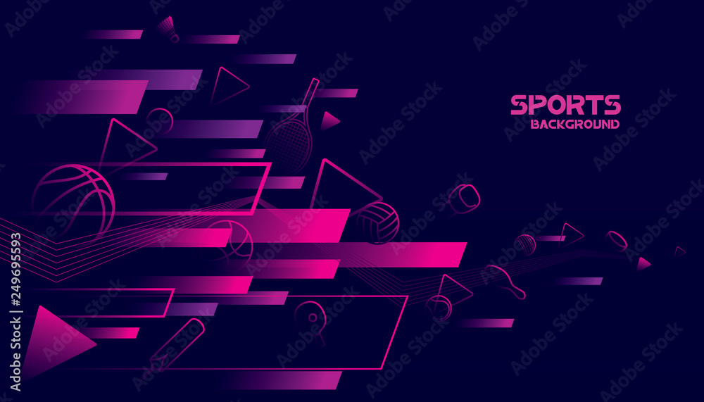 Fototapety, obrazy: Abstract futuristic background. Vector sport concept