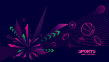 Abstract Futuristic Background. Vector Sport Concept