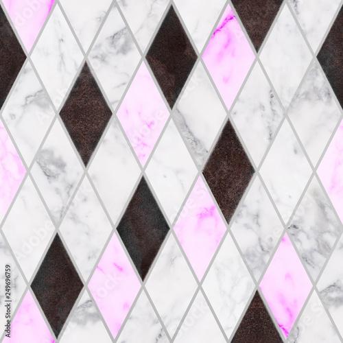 bezszwowy-bialy-i-rozowy-marmuru-kamien-z-osniedziala-metal-tekstura-w-rombu-wzorze-luksusowe-marmurowe-dekoracje-kamienne