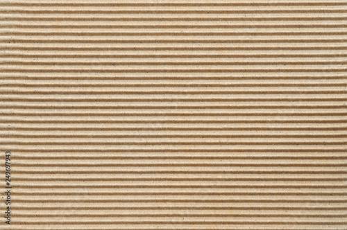 Brown corrugated cardboard Fotobehang