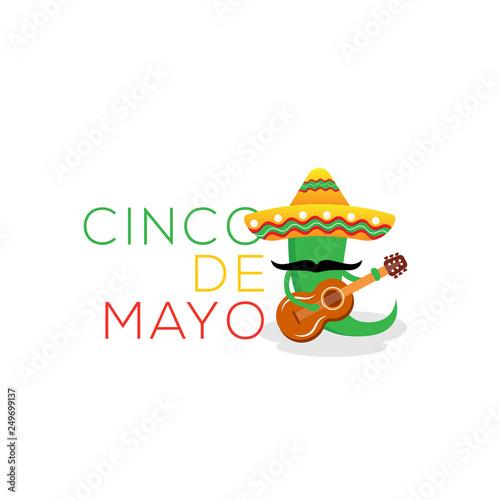 Cinco De Mayo May 5th Typography Banner Vector Mexico