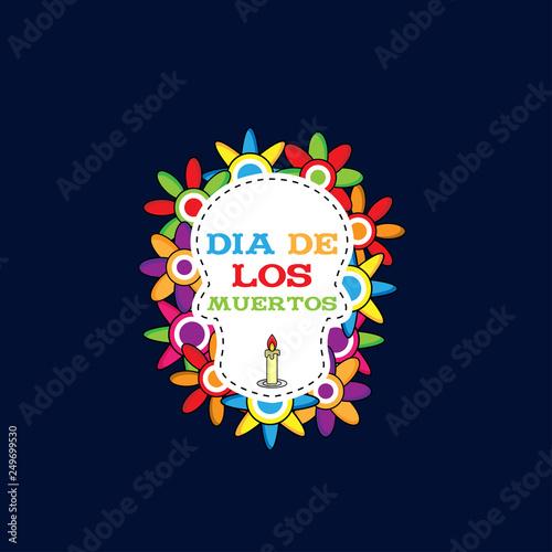 Dia De Los Muertos Day Of The Dead Vector Illustration