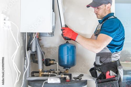 Fototapeta Central Gas Heater Installer obraz