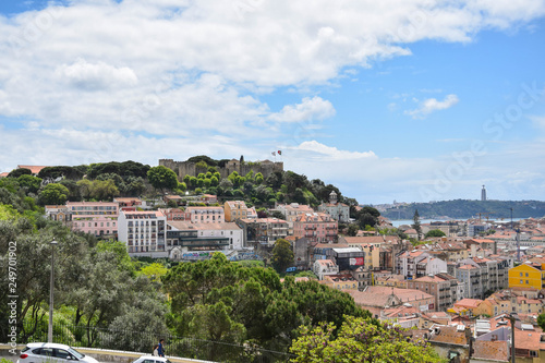 Amazing Lisabon town and nature in one place Canvas Print