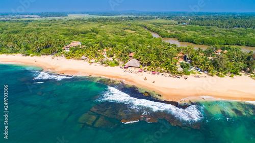 Poster Cote Aerial. Tangalle beach. Sri Lanka.