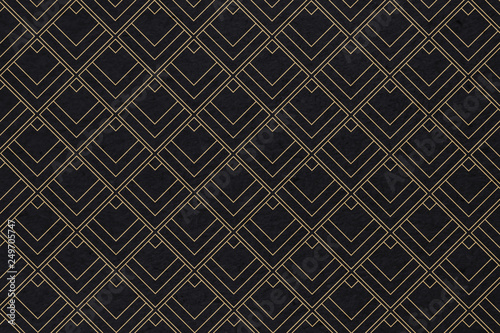 Art deco pattern background with diamond shape - Illustration