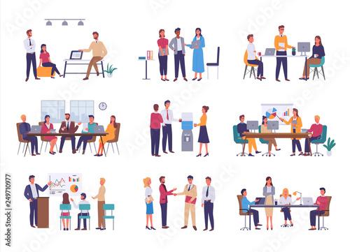 Fotografía Teamwork or team building, office business meeting vector