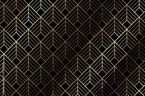 Art deco pattern background - Illustration