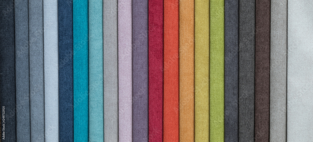 Fototapety, obrazy: set of colored furniture fabrics