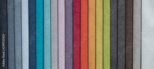 Foto op Aluminium Stof set of colored furniture fabrics