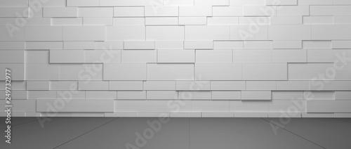 Foto auf Gartenposter Dunkelgrau Wide background wall texture for composing 3d-illustration
