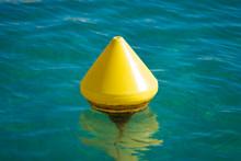 Yellow Buoy In Sea