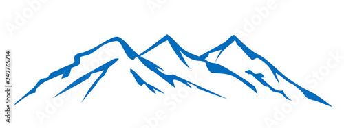 Fototapeta Mountain ridge with many peaks - for stock obraz