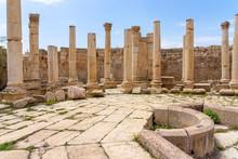 Agora (Macellum) In Roman City Of Jerash, Jordan