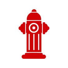 Red Fire Hydrant Icon Isolated...