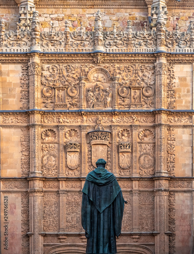The University of Salamanca, Castile and Leon, Spain. Founded in 1134 it is the oldest university in the Hispanic world and the third oldest university in the entire world still in operation.