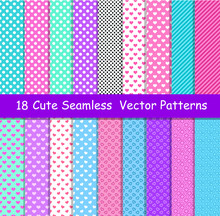 Seamless Vector Patterns In Lo...