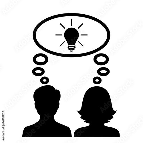 Common idea, team, partnership - stock vector Canvas-taulu