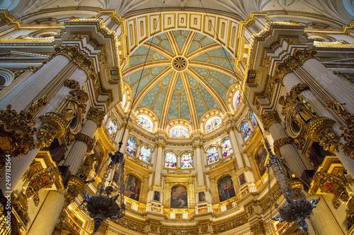 Fotografia  Granada, Spain-October 15, 2017: Exquisite Interiors of landmark Granada Royal C