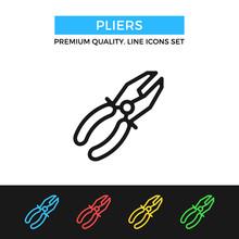 Vector Pliers Icon. Premium Qu...