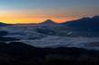 Fuji Sunrise with fog