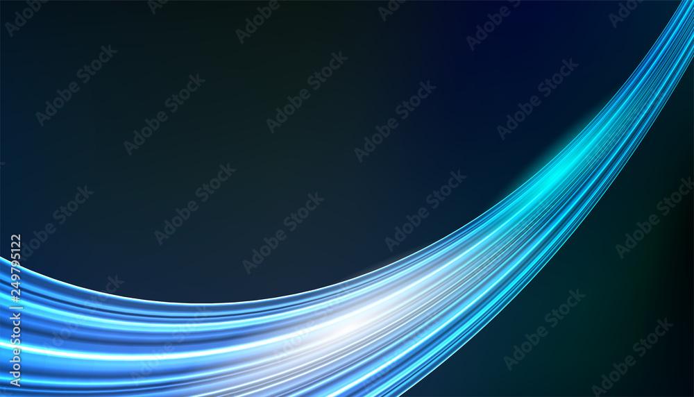 Abstract smooth blue color. Modern wave and curve background .Blue motion illustration. for brochure, website,card, flyer design.