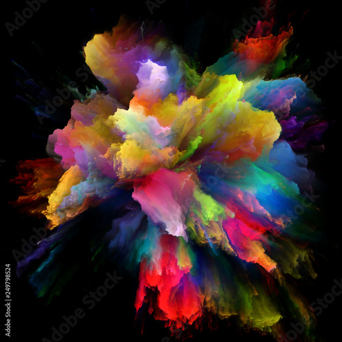 Fototapety, obrazy: Layers of Color Splash Explosion