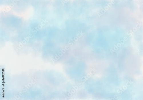 Printed kitchen splashbacks Light blue Abstract watercolor background.
