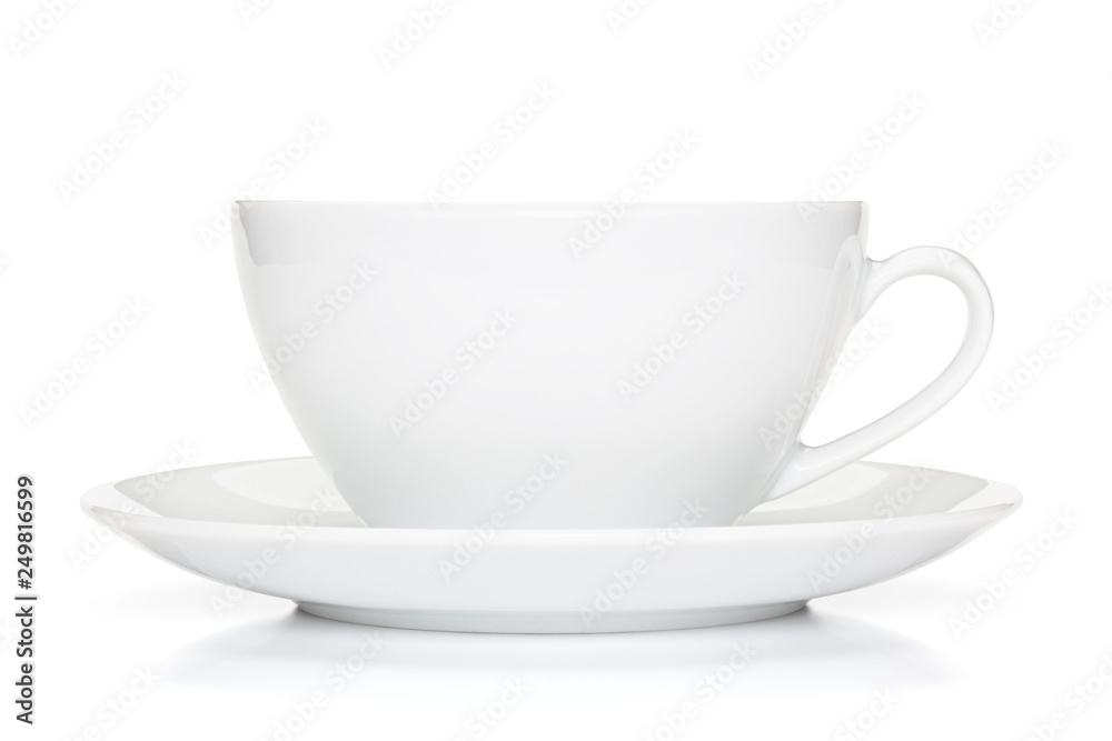 Fototapety, obrazy: White coffee cup isolated on the white background.