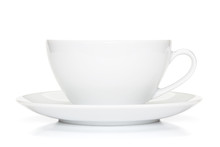 White Coffee Cup Isolated On T...