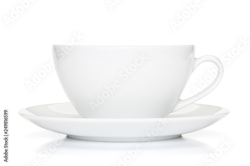 Valokuva White coffee cup isolated on the white background.