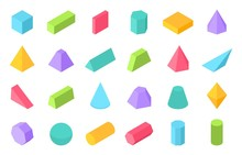 Isometric Shapes. 3D Geometric...