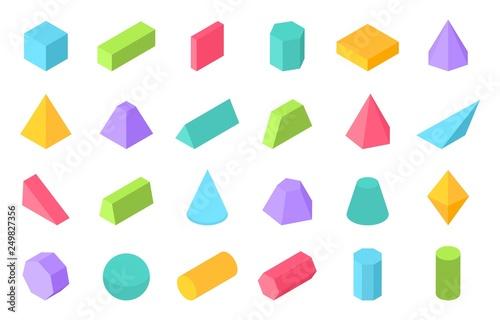 Cuadros en Lienzo  Isometric shapes