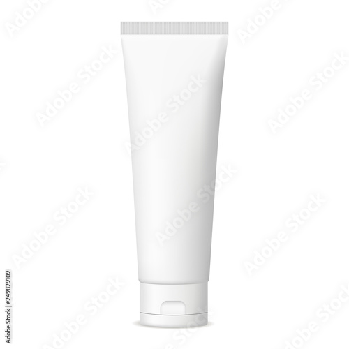 Plastic cosmetic tube for cream or gel mockup isolated on white background Fototapete